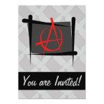 Bandera del cepillo de la anarquía invitación 12,7 x 17,8 cm