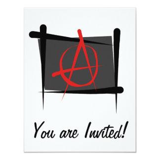 """Bandera del cepillo de la anarquía invitación 4.25"""" x 5.5"""""""