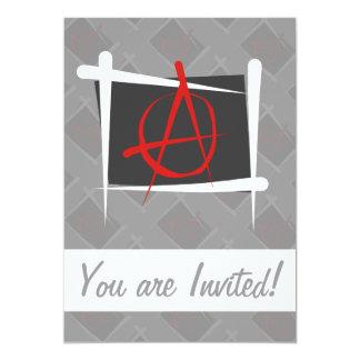 """Bandera del cepillo de la anarquía invitación 5"""" x 7"""""""