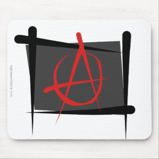 Bandera del cepillo de la anarquía alfombrilla de ratones