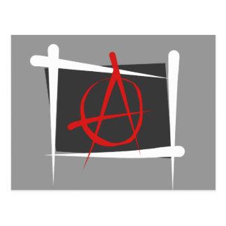 Bandera del cepillo de la anarquía tarjeta postal