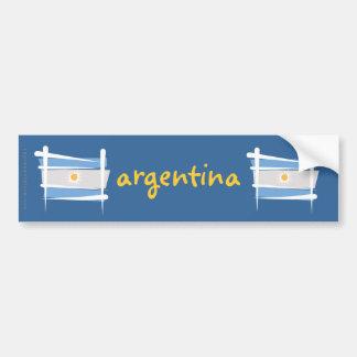 Bandera del cepillo de la Argentina Pegatina Para Auto