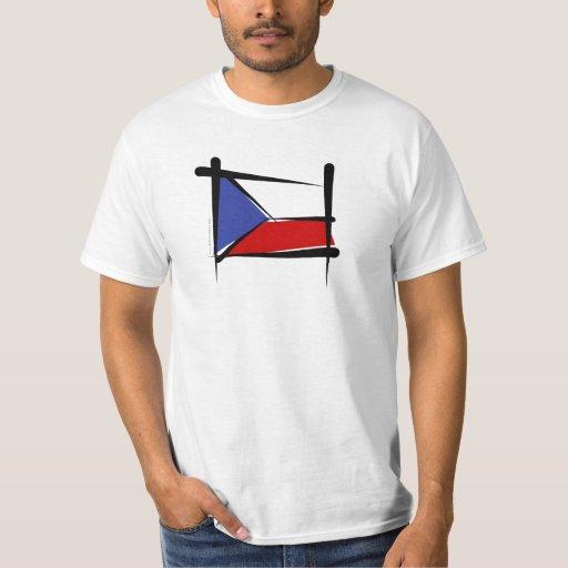 Bandera del cepillo de la República Checa Camisas