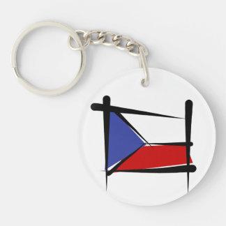 Bandera del cepillo de la República Checa Llavero