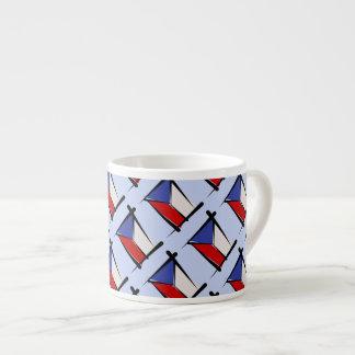 Bandera del cepillo de la República Checa Tazas Espresso