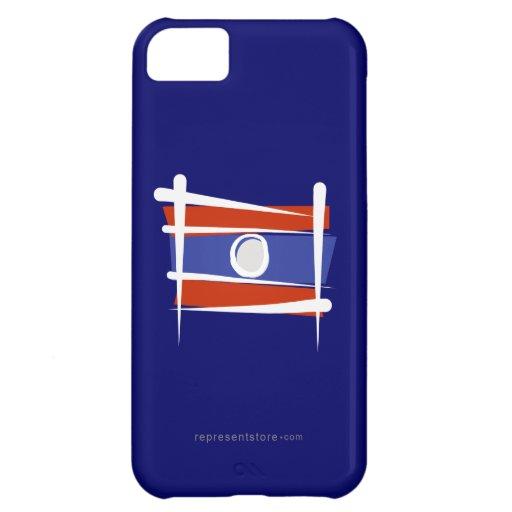 Bandera del cepillo de Laos