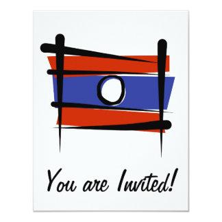 """Bandera del cepillo de Laos Invitación 4.25"""" X 5.5"""""""