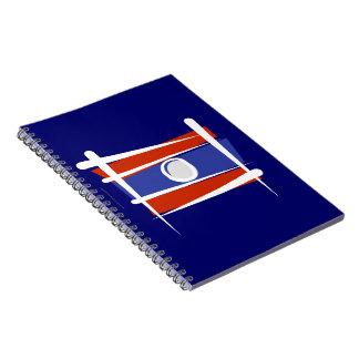 Bandera del cepillo de Laos Libro De Apuntes