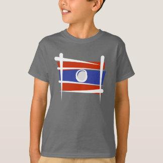 Bandera del cepillo de Laos Playera
