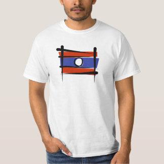Bandera del cepillo de Laos Remera