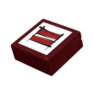 Bandera del cepillo de Letonia Cajas De Regalo