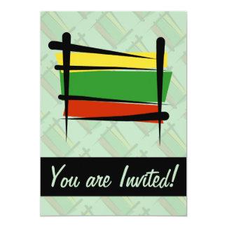 Bandera del cepillo de Lituania Invitación 12,7 X 17,8 Cm