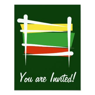 Bandera del cepillo de Lituania Invitación 10,8 X 13,9 Cm