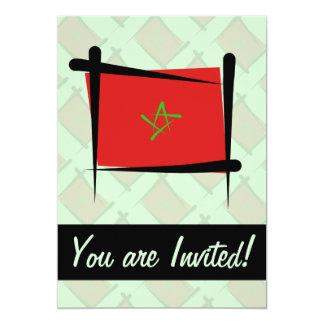 """Bandera del cepillo de Marruecos Invitación 5"""" X 7"""""""