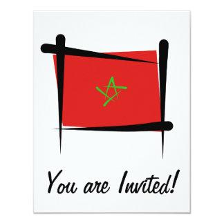 """Bandera del cepillo de Marruecos Invitación 4.25"""" X 5.5"""""""