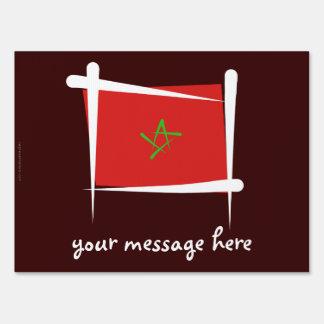 Bandera del cepillo de Marruecos Letrero