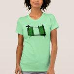 Bandera del cepillo de Nigeria Camiseta