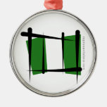 Bandera del cepillo de Nigeria Ornamento De Navidad