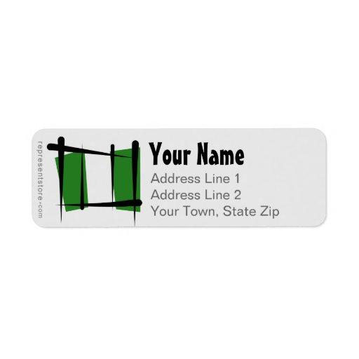 Bandera del cepillo de Nigeria Etiquetas De Remite