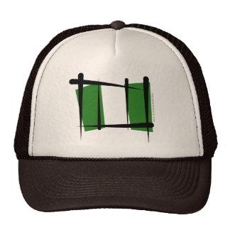Bandera del cepillo de Nigeria Gorro