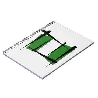 Bandera del cepillo de Nigeria Libros De Apuntes