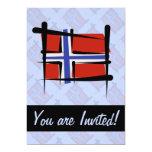 Bandera del cepillo de Noruega Comunicado Personal