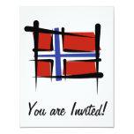 Bandera del cepillo de Noruega Comunicados