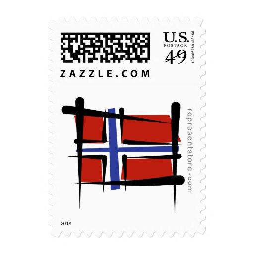 Bandera del cepillo de Noruega Envio
