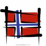 Bandera del cepillo de Noruega Esculturas Fotograficas