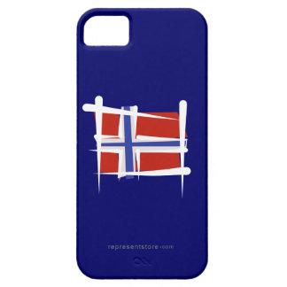 Bandera del cepillo de Noruega iPhone 5 Fundas