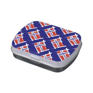 Bandera del cepillo de Noruega Latas De Caramelos