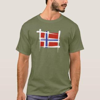 Bandera del cepillo de Noruega Playera