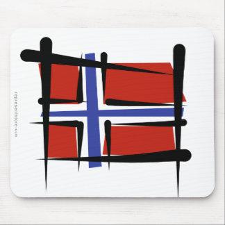 Bandera del cepillo de Noruega Tapetes De Raton