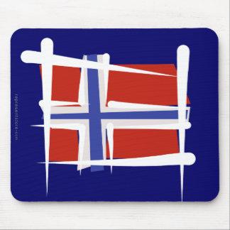 Bandera del cepillo de Noruega Alfombrillas De Ratones