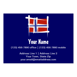 Bandera del cepillo de Noruega Tarjetas De Visita Grandes