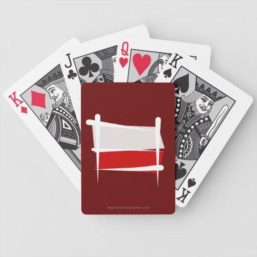 Bandera del cepillo de Polonia Baraja Cartas De Poker