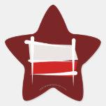 Bandera del cepillo de Polonia Calcomanías Forma De Estrella