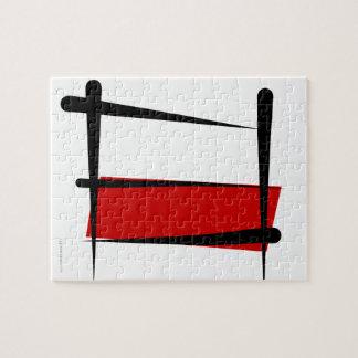 Bandera del cepillo de Polonia Rompecabezas Con Fotos
