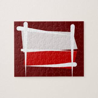 Bandera del cepillo de Polonia Rompecabezas
