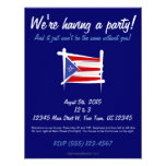 Bandera del cepillo de Puerto Rico Invitación Personalizada