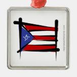 Bandera del cepillo de Puerto Rico Ornato