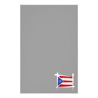Bandera del cepillo de Puerto Rico Papeleria Personalizada