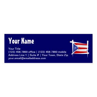 Bandera del cepillo de Puerto Rico Tarjetas De Visita Mini