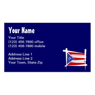 Bandera del cepillo de Puerto Rico Tarjeta De Visita