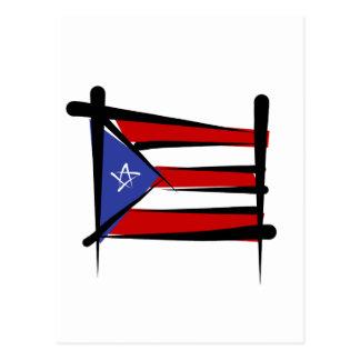 Bandera del cepillo de Puerto Rico Postal