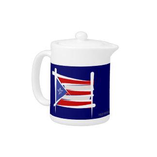 Bandera del cepillo de Puerto Rico