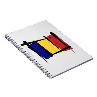 Bandera del cepillo de República eo Tchad Libreta Espiral