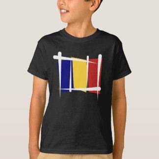 Bandera del cepillo de República eo Tchad Playera