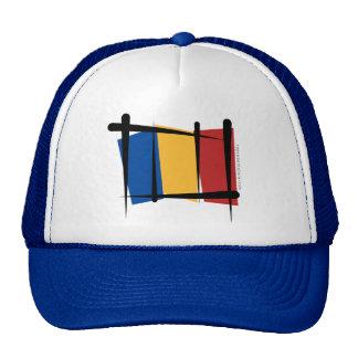 Bandera del cepillo de Rumania Gorros Bordados