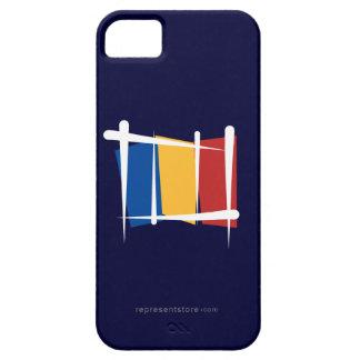 Bandera del cepillo de Rumania iPhone 5 Funda